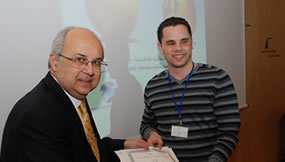 Nabil receives his certificate